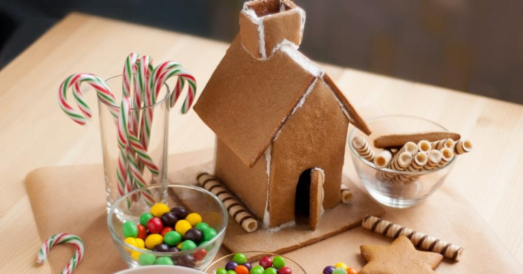 The 5 Best At-Home Winter Date Night Ideas, gingerbread house